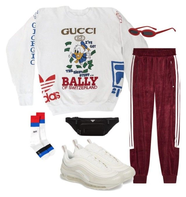 """Untitled #1025"" by evalofra ❤ liked on Polyvore featuring Gucci, adidas Originals, NIKE, Kenzo, Prada, outfit and ootd"