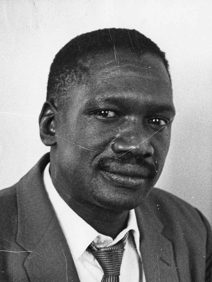 Robert Sobukwe, anti-apatheid leader. Founded the militant Pan Africanist Congress.