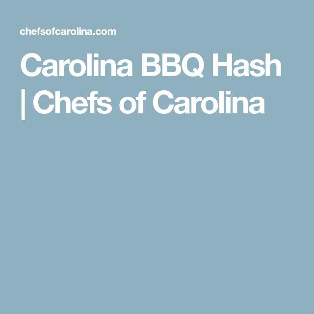 Carolina BBQ Hash | Chefs of Carolina