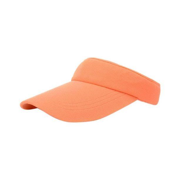Attractive Women Visor Sun Plain Hat Sports Cap Colors Golf Tennis Beach Hat Adjustable
