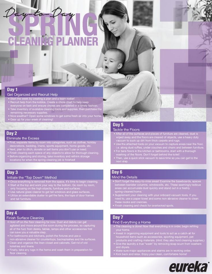 Spring Cleaning Planner check list. Break it down in stages to keep it simple!