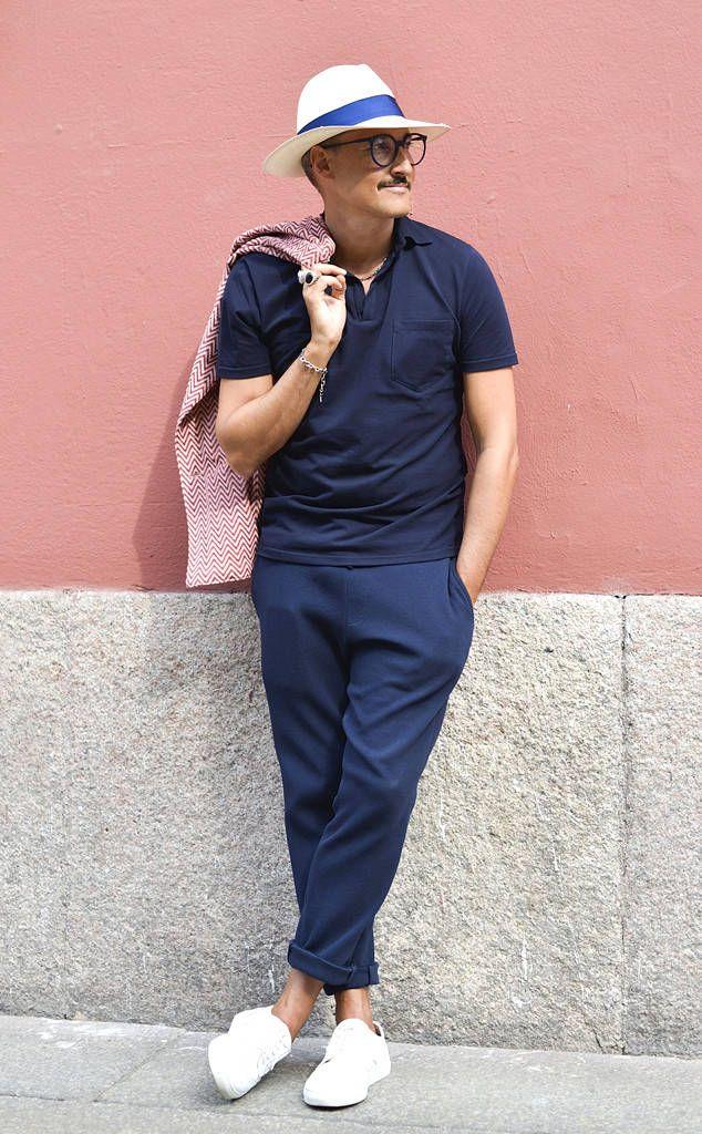 Fabrizio Oriani from Men's Fashion Week Street Style