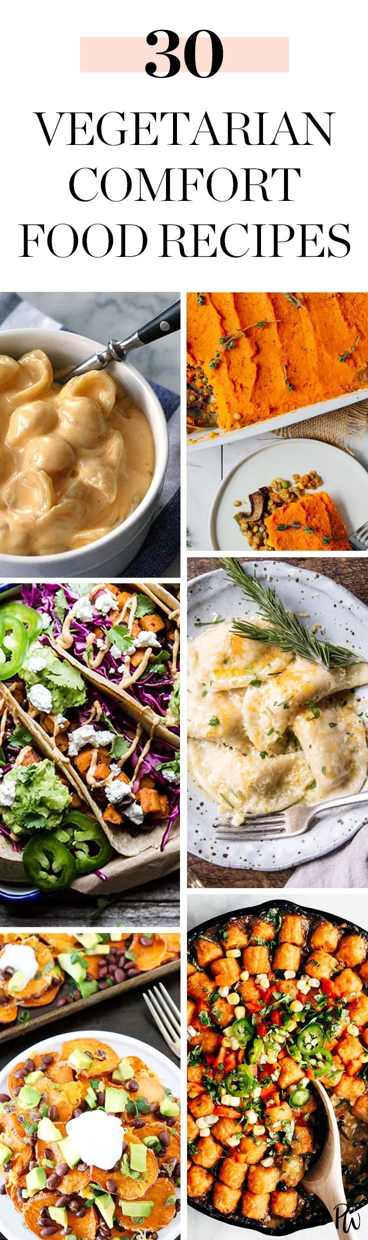 Get the best vegetarian comfort food recipes here. #vegetarian #comfortfood #sweetpotato #veggies #vegetarianappetizers