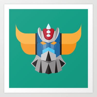 Grendizer - Ufo Robot Art Print by Gianluca Gentile - $22.88