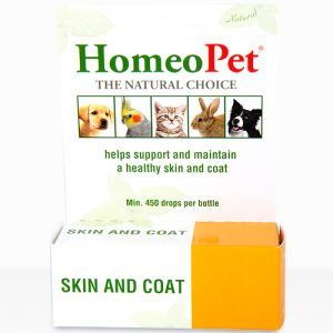 Homeopet Skin and Coat helps support and maintain a healthy dog!