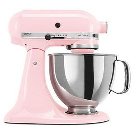 Great, vibrant, eye-catching colours combine with superior KitchenAid® quality to provide the one-of-a-kind Artisan® Series model stand mixer! It features a 325-watt motor, 5-quart stainless steel bowl with ergonomic handle, pouring shield and a tilt-back mixer head design that provides easy access to bowl and beaters. A must-have for anyone who enjoys baking or cooking.