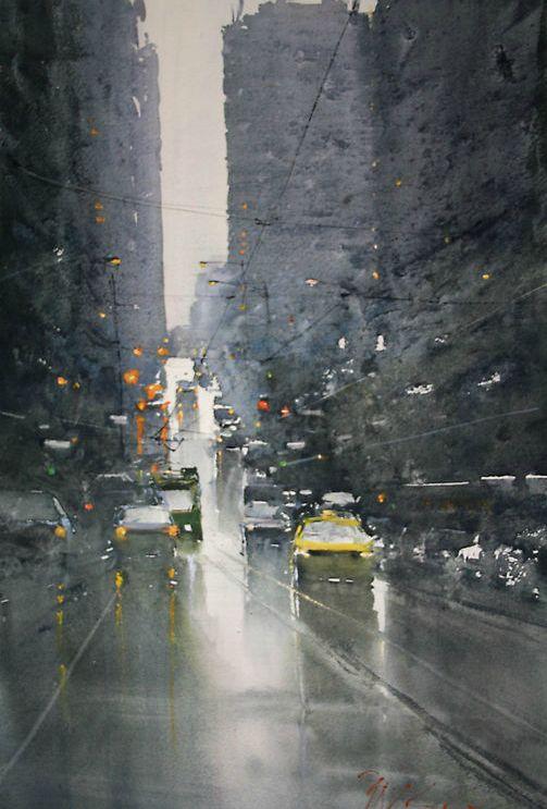 Joseph Zbukvic watercolor.