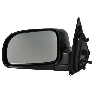 2004 Hyundai Santa Fe Power Mirror Non Heated Assembly- Description:Power, Non-Heated, Fold Away, Paintable, Smooth, Black Dimensions:7.00x10.03x15.75 Retail Price:$155.25  Fits: 2004 Hyundai Santa Fe GL Model 2003 Hyundai Santa Fe GL Model Color:Smooth Finish:Black Part No:HY909410GR OEM No:8762026601CA International Shipping Available!