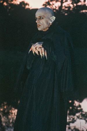 Klaus Kinski as Count Orlock in NOSFERATU: THE VAMPYRE  Directed by Werner Herzog  Starring Isabelle Adjani, Bruno Ganz, Roland Topor & Walter Ladengast