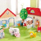 HABA PLAYSET - HAPPY MEADOW FARM PLAY SCENE