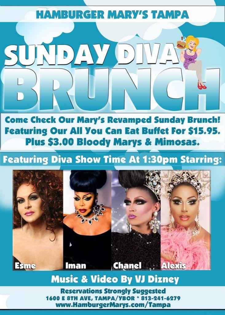 Sunday Brunch – Buffet & Show! | Hamburger Mary's Tampa