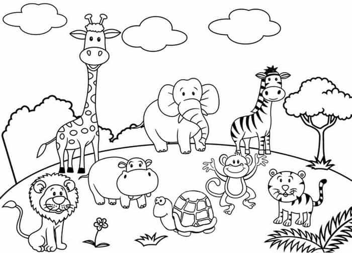 Baby Zoo Animal Coloring Pages Zoo Animal Coloring Pages Zoo Coloring Pages Animal Coloring Pages