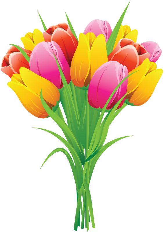 Best clip art spring flowers images on pinterest