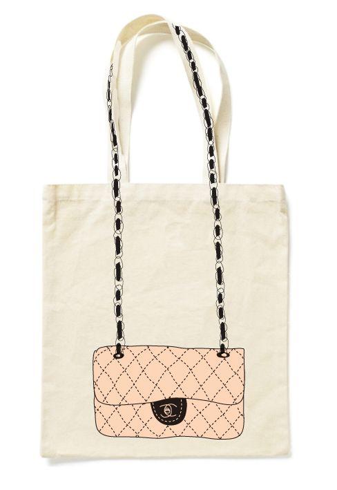 Chanel ;-) #sac #cabas #totebag #baiseenville #toile #tissu #coton #lin