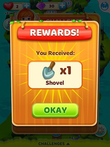 Rewards screen mobile games