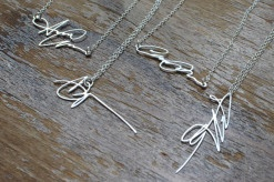 Custom Silver Signature Necklaces.