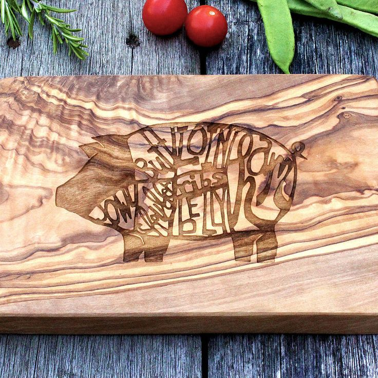 butchers chart engraved wooden chopping board by the rustic dish | notonthehighstreet.com