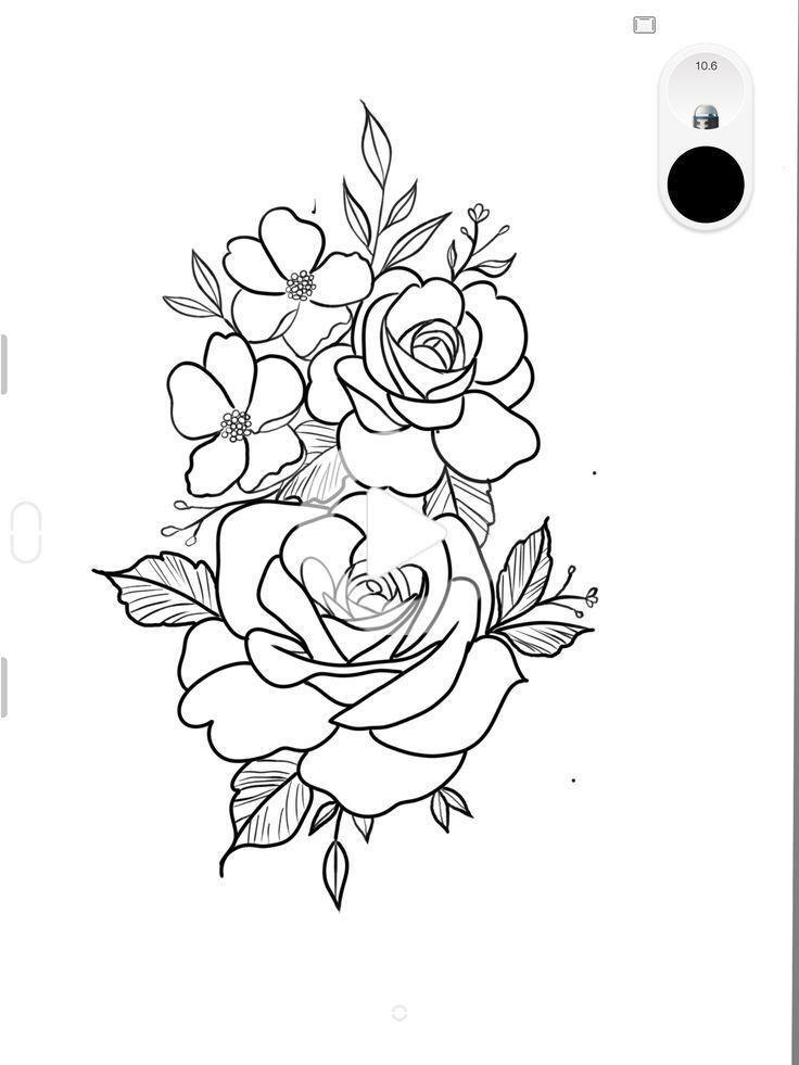 Flower Tattoos Outline Tattoo Ideas Flower Ideas Outline Tattoo Tattoos In 2020 Tattoo Outline Tattoo Stencil Outline Realistic Flower Tattoo