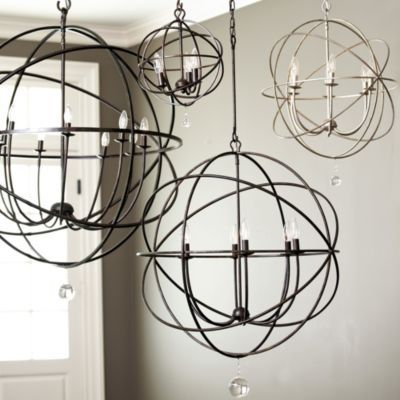 """Orb Chandeliers - made by Crystorama, Solaris English Bronze. Get the small size 24"""" for above dining room table"""