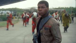 """Image copyright                  Lucasfilm                  Image caption                     Boyega is currently filming the follow-up to The Force Awakens   Star Wars actor John Boyega has become a patron of the theatre he worked with as a child. The 24-year-old, who played stormtrooper Finn in Star Wars: The Force Awakens, was a member of Theatre Peckham's company from age nine to 14. He said he admired the theatre was """"inspiring young people"""