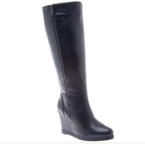 1000 ideas about black wedge boots on wedge
