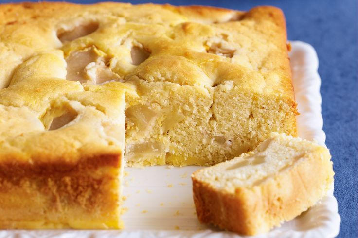 An apple a day is no problem in this tasty tea cake.