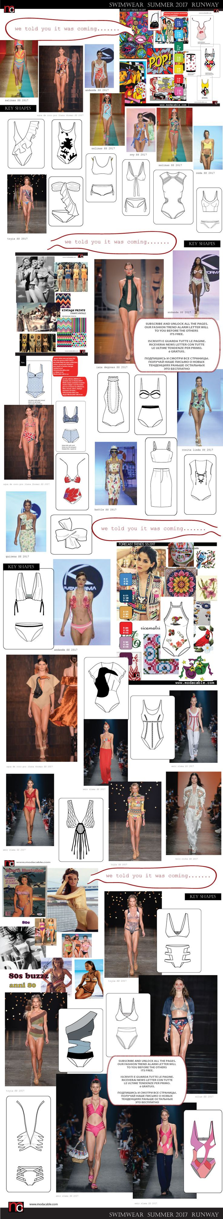 swimwear fashion trends 2017 and we told you about them long agoooo.... subscribe to see all the trends before the season only at www.modacable.com. its free