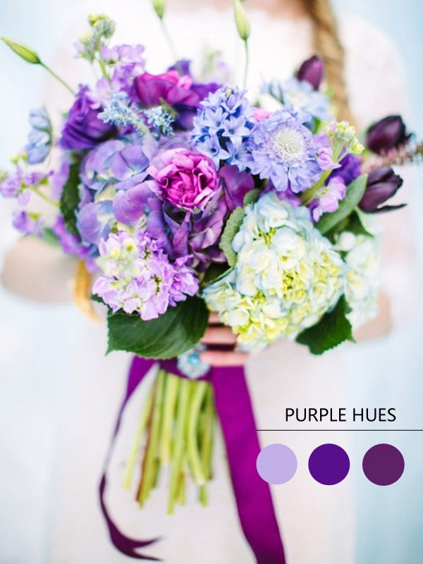 Purple Hues for Winter Wedding Color Ideas and Bridesmaid Dresses 2014 #weddingcolors #tulleandchantilly