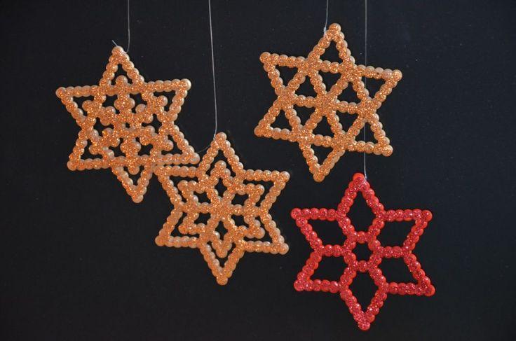 Bügelperlensterne - perler beads stars - perline da stirare