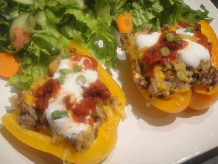 Southwestern Stuffed Peppers from REAL SIMPLE - I loved these!!: Go To Recipes, Side, Southwestern Stuffed, I'M, Favorite Recipes, Real Simple, Stuffed Peppers, Southwestern Night