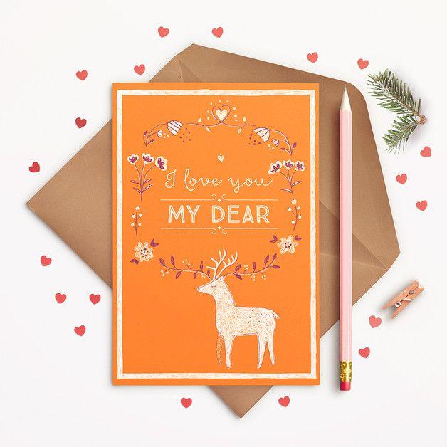 I love you my dear! - pocztówka