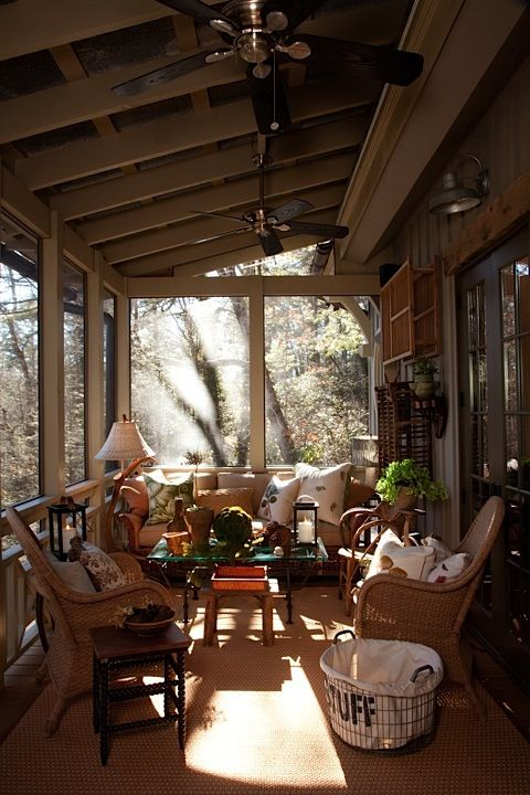 Designer Bill Cook's wonderful porch in his Highlands, NC home ...