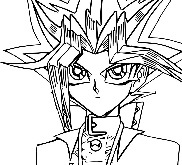 Yu Gi Oh Wait Coloring Page | Cartoon coloring pages ...