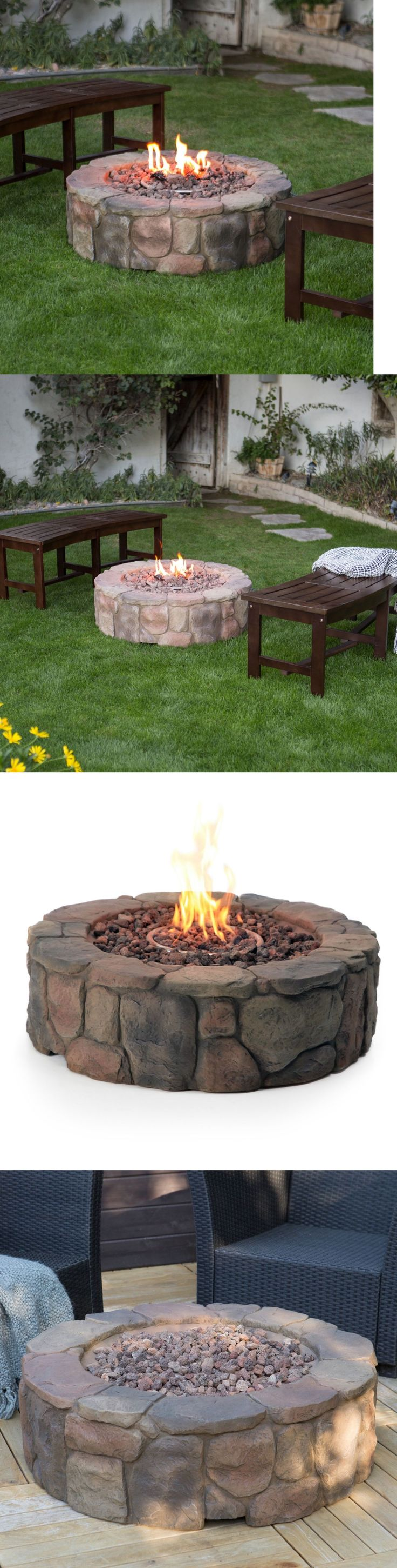 Fire Pits and Chimineas 85916: Outdoor Propane Fire Pit Backyard Patio Deck Stone Fireplace Campfire Gas Heater -> BUY IT NOW ONLY: $326.21 on eBay!