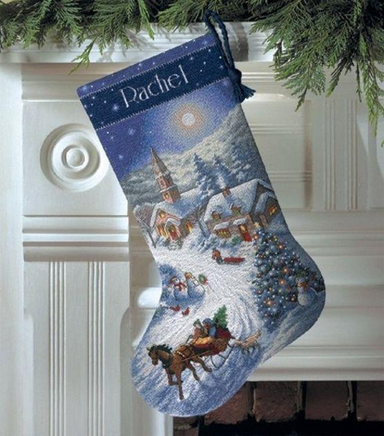 Counted Cross Stitch Christmas Stocking Kit