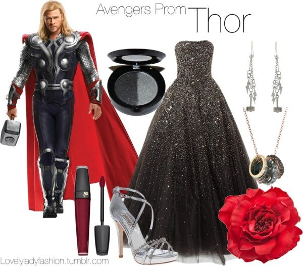 """Avengers Prom - Thor"" by nearlysamantha on Polyvore"