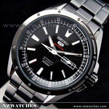 BUY Seiko 5 Sports 4R36 Automatic Mens Black Watch SRP157J1 SRP157 Japan - Buy Watches Online | SEIKO NZ Watches