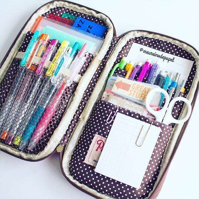 Tudo arrumadinho!  All organized!  #schoolsupplies #plannersupplies #pencilcase