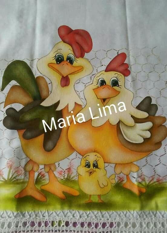Familia de galinhas Mais