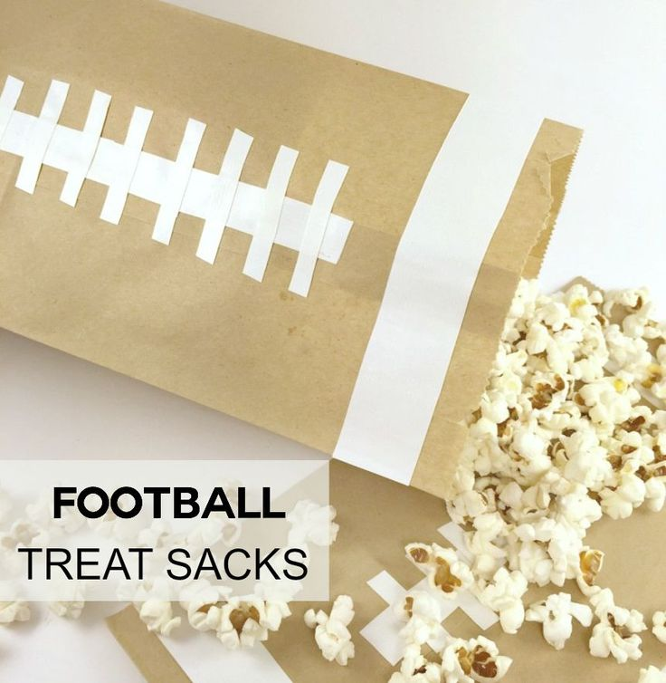 Football Treat Bags are the perfect accessory to your next football party!