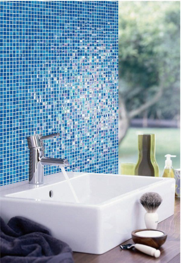 Recycled glass tile recycled glass mosaic tile for - Recycled glass tiles bathroom ...