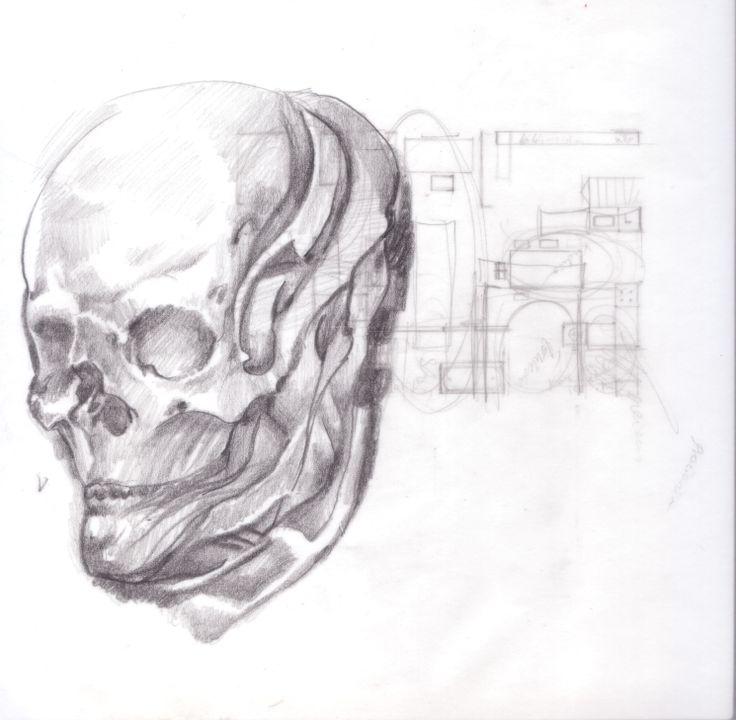 czaszeczka. skull. by maja baraska
