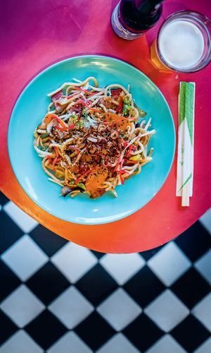 This Yaki-udon recipe (Stir-fried Udon Noodles) from Tim Anderson's cookbook Nanban can be easily rustled up in 30 mins. The dish is packed with healthy vegetables, including carrots, cabbage, mushrooms and bean sprouts.