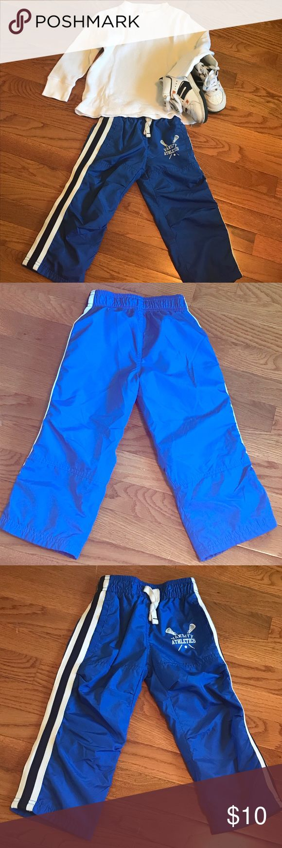 Carters Blue Athletic Pants EUC- Carters size 2T Blue Athletic Pants Non-adjustable waist No holes/stains Non-smoking, pet-friendly home🐶🐱🐱 All used clothing washed prior to shipping Carter's Bottoms Sweatpants & Joggers