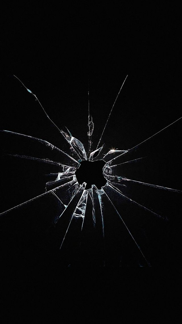 Apple Logo Window Dark Broken iPhone 5s wallpaper