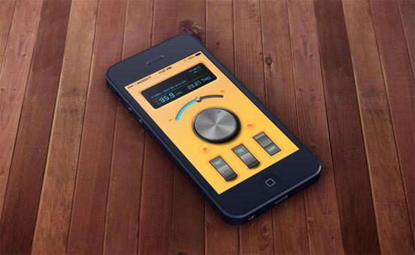 Simple Radio app on App Design Served