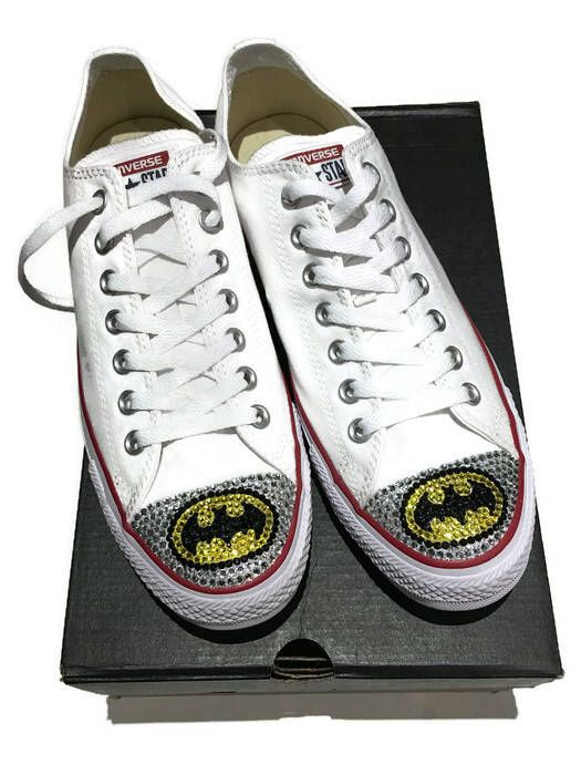 A personal favorite from my Etsy shop https://www.etsy.com/ca/listing/509337116/sale-womens-size-11-batman-white-low-top