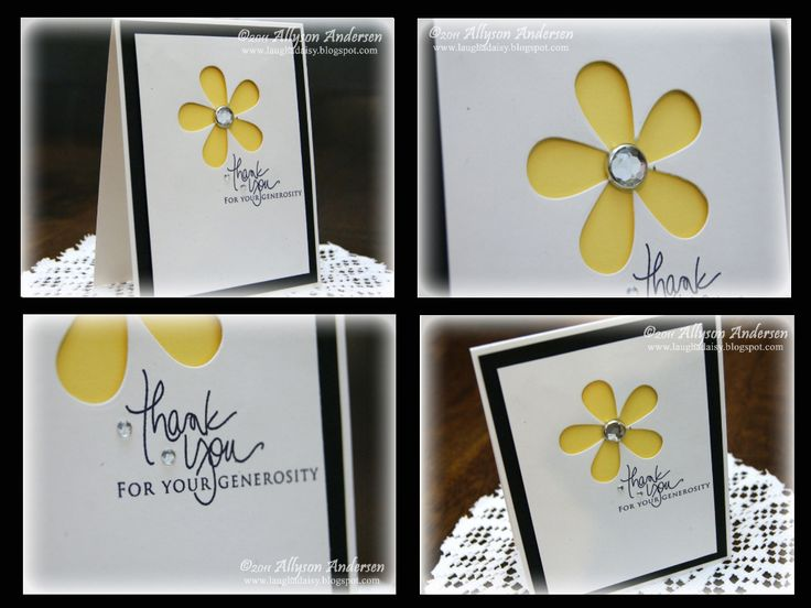 A third card for the Barbles #2 challenge, this time using the bottom right photo in the collage (photo shown at bottom of this post):In this photo, all I saw was a large yellow flower, and black.&…