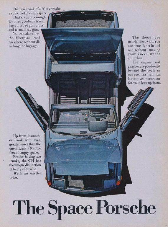 1972 Porsche 914 Car Ad  Vintage Sports Car by AdVintageCom
