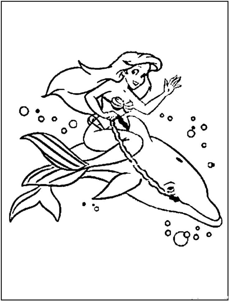 princess ariel printables coloring pages